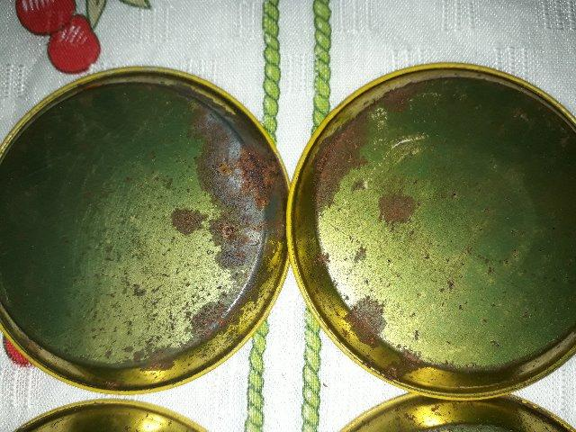 Conjunto de porta-copos antigo metálico - Foto 5