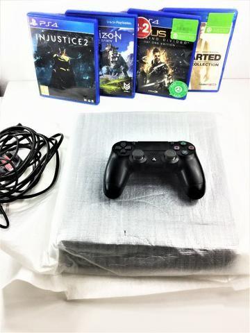 Playstation 4 slim 1TB + 6 Jogos [Pode pg no Cartão] Economize mais de 800 reais em jogos - Foto 2