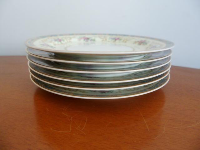 6 Pratos de Salada (Saucer Plates) Porcelana Chinesa Noritake 5032 Colby Blue - Foto 3