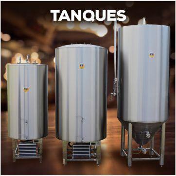 Tanque fermentador e maturador auto refrigerado para cerveja 120 lit