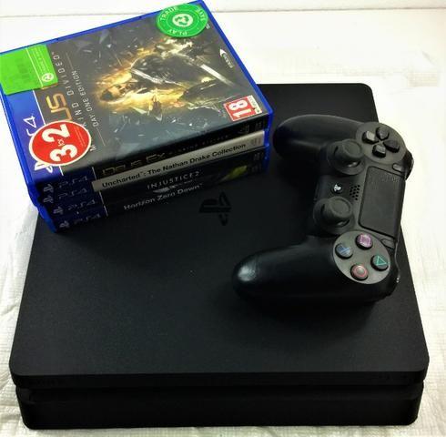 Playstation 4 slim 1TB + 6 Jogos [Pode pg no Cartão] Economize mais de 800 reais em jogos - Foto 3