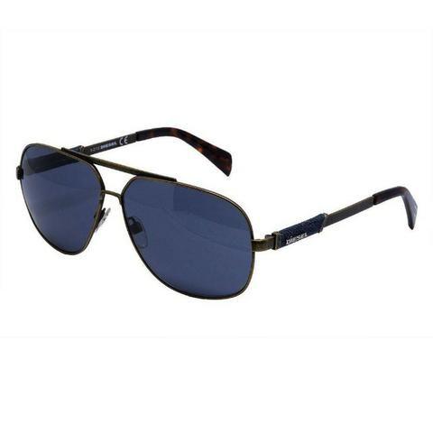Óculos De Sol Diesel Dl0088 - Metal Bronze, Lente Azul - Bijouterias ... 3aeefbeeb4