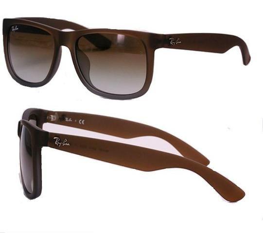 Óculos Ray Ban Justin Marrom  Original - Bijouterias, relógios e ... 53bdb79314
