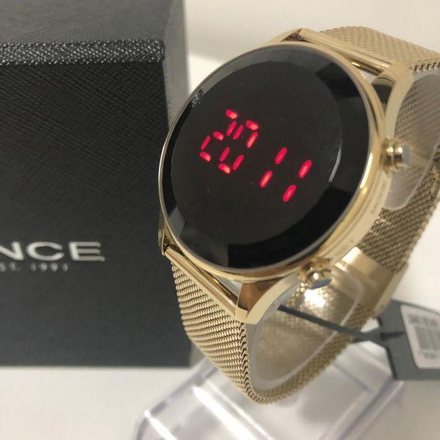 Relógio Feminino Lince Led Digital Pulseira Em Mesh - Foto 6