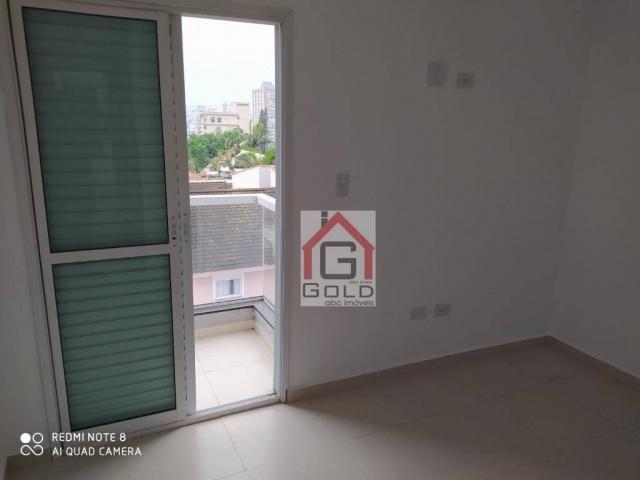 Apartamento com 3 dormitórios para alugar, 88 m² por R$ 2.000,00/mês - Campestre - Santo A - Foto 13