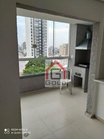 Apartamento com 3 dormitórios para alugar, 88 m² por R$ 2.000,00/mês - Campestre - Santo A - Foto 5