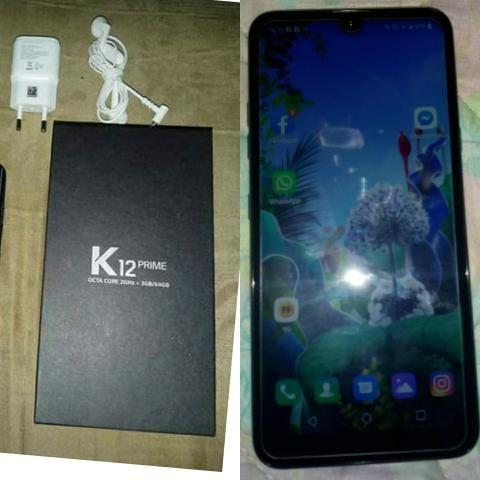 K12 prime 64GB/1 mês de uso/Parcelo no cartão