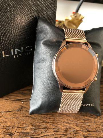 Relógio Feminino Lince Led Digital Pulseira Em Mesh - Foto 2