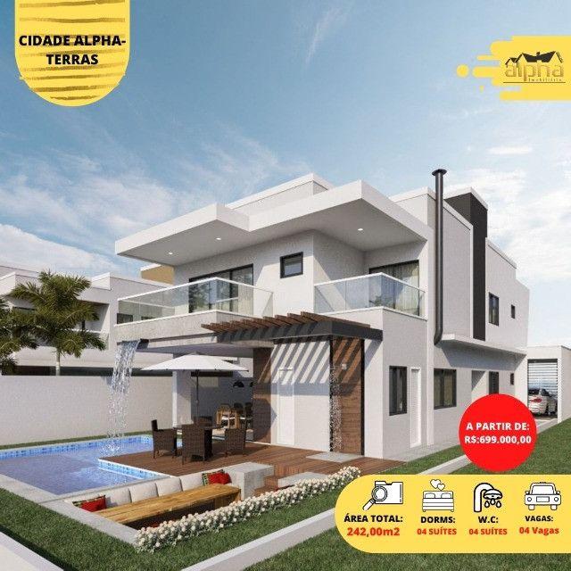 Luxuosa Casa em Condomínio Fechado - Alphaville Terras Ceará 01