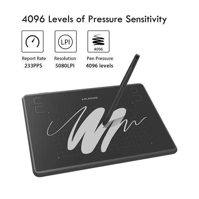 Tablet/Mesa Digitalizadora Huion Inspiroy 430p profissional NOVO - Foto 3
