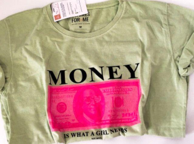 Blusa feminina camiseta T-shirt 100% Algodao - Foto 5
