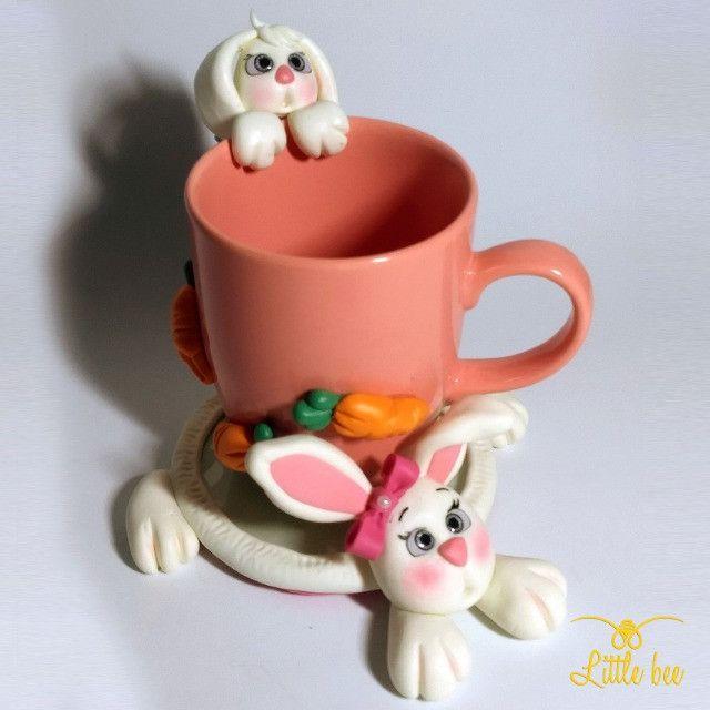 Caneca Personalizada em Biscuit - Presentes - Lembrancinhas - Biscuit 3D - Foto 4