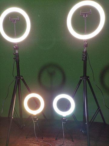 Kit Ring Light 6 pol + tripé - Foto 3