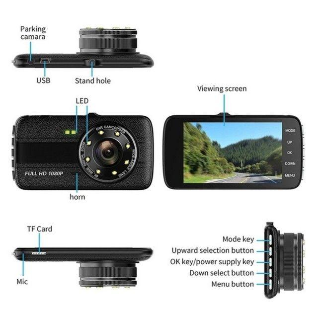 Camera veicular HD gravador, câmera de ré, 170° com sensor de movimento - Nova - Foto 5