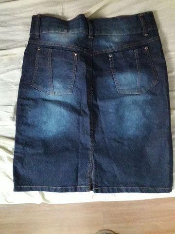 Saia jeans com listra lateral  - Foto 2