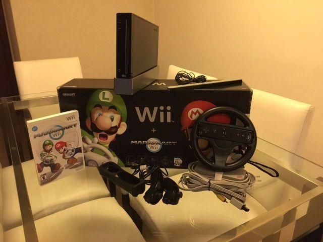 Wii Black Super Mário