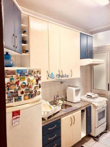 Apartamento com 3 dormitórios sendo 1 suíte à venda, 70 m² - vila industrial - são josé do - Foto 6