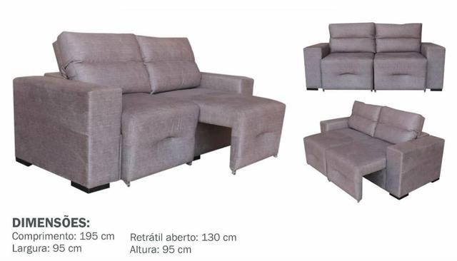 Sofa retrátil e reclinável - Foto 4