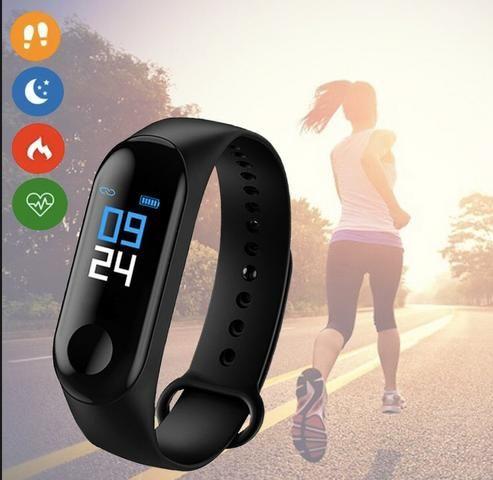 Relógio Smartwhatch Inteligente M3 Bluetooth Android celular - Foto 5