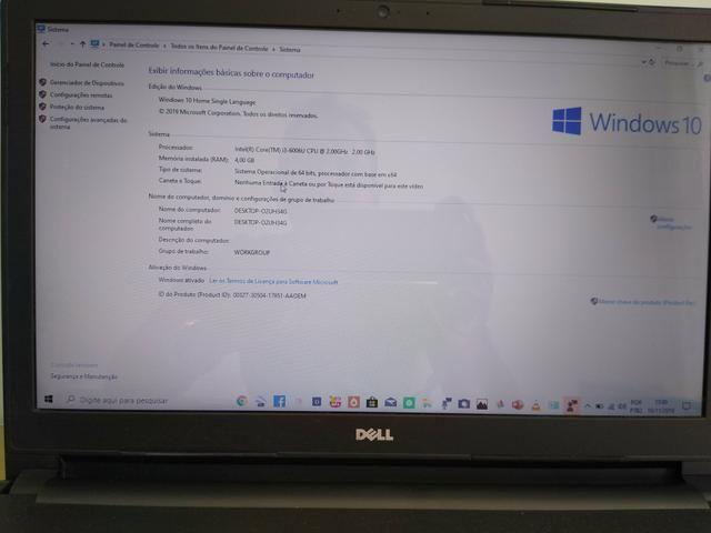 UltraBook DELL i3 6ª Geração HD de 1 Tera - Foto 2