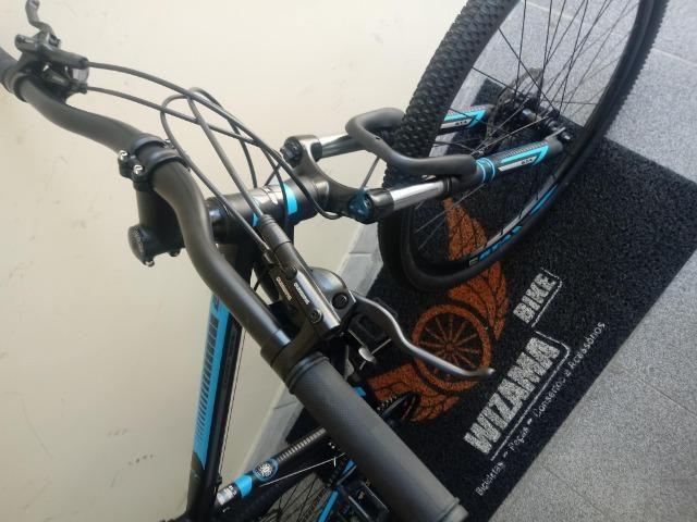 Bicicleta Aro 29 Freio Hidraulico Suspensão c\ Trava 10X S\ Juros - Foto 4