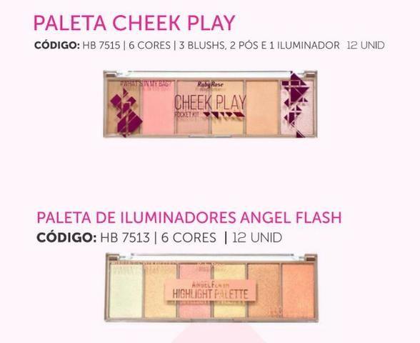 Kit Profissional De Maquiagem Ruby Rose Base Rime l Pincéis - Foto 4