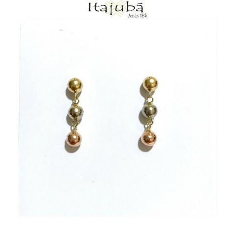 665a0a8f7d108 Brinco Bolinhas Ouro 18k Tricolor - Bijouterias, relógios e ...