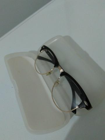 b59d1facf65bb Ray ban original com lentes transparentes sem grau - Bijouterias ...
