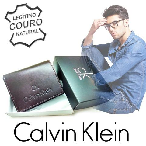 Carteira Masculina Calvin Klein Slim 100% Couro - Bolsas, malas e ... 84ebabb7d7