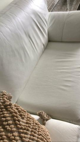 Sofá de couro legitimo branco - Líder Interiores - Foto 3