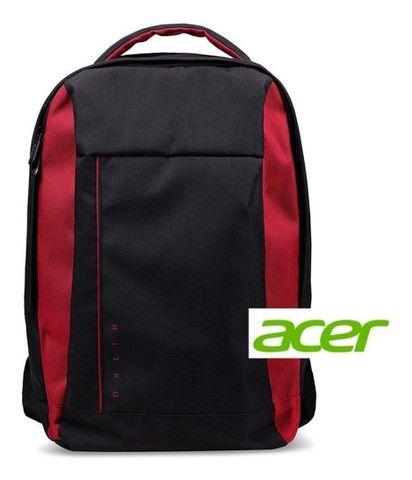 Mochila para notebook Acer Nitro 15,6 Resistente a Água, preto com vermelho! Nova! - Foto 5