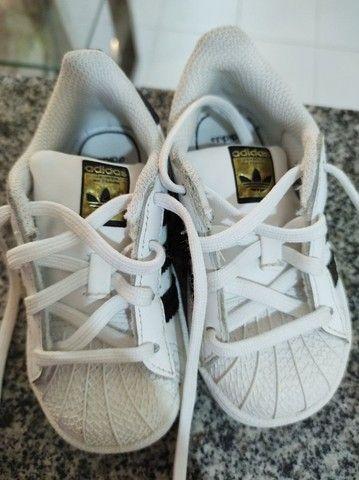Tênis Adidas superstar - tamanho 21 - Foto 3