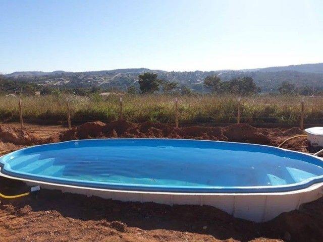 piscina de fibra leds de brinde 7 metros - Foto 3