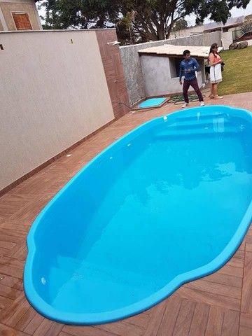 piscina de fibra leds de brinde 7 metros - Foto 5