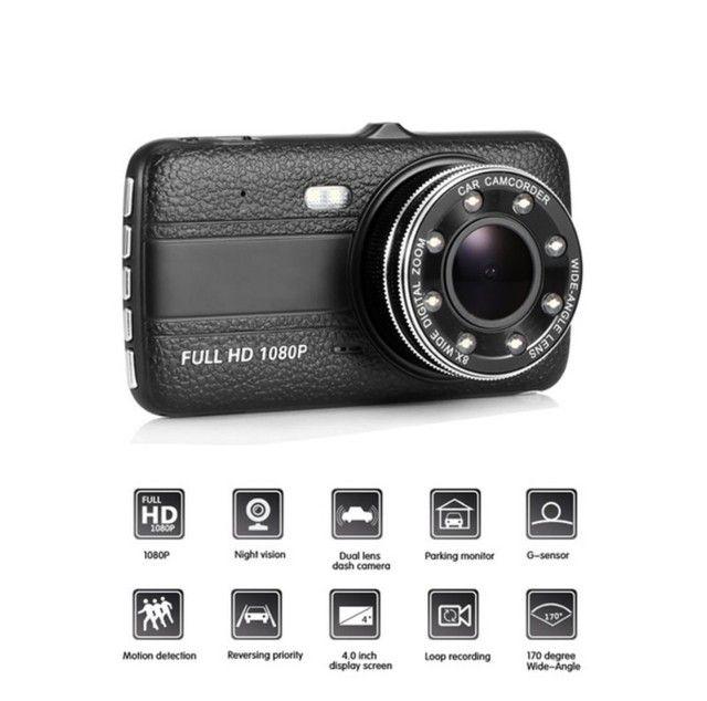 Camera veicular HD gravador, câmera de ré, 170° com sensor de movimento - Nova - Foto 3