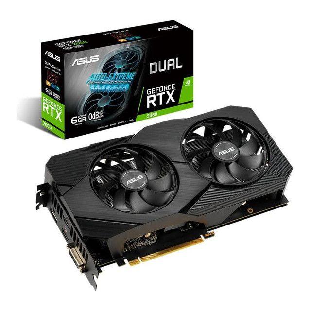 Placa de Vídeo Asus GeForce RTX 2060 Dual 6GB  GDDR6