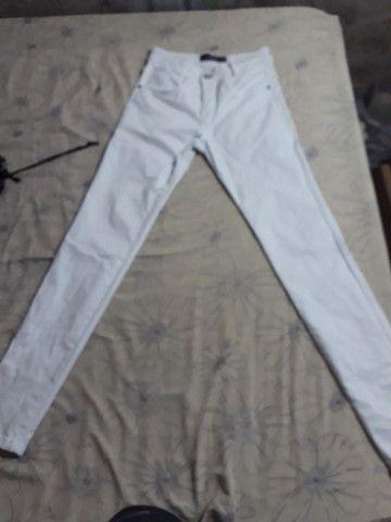 Calça branca 38 nova - Foto 2