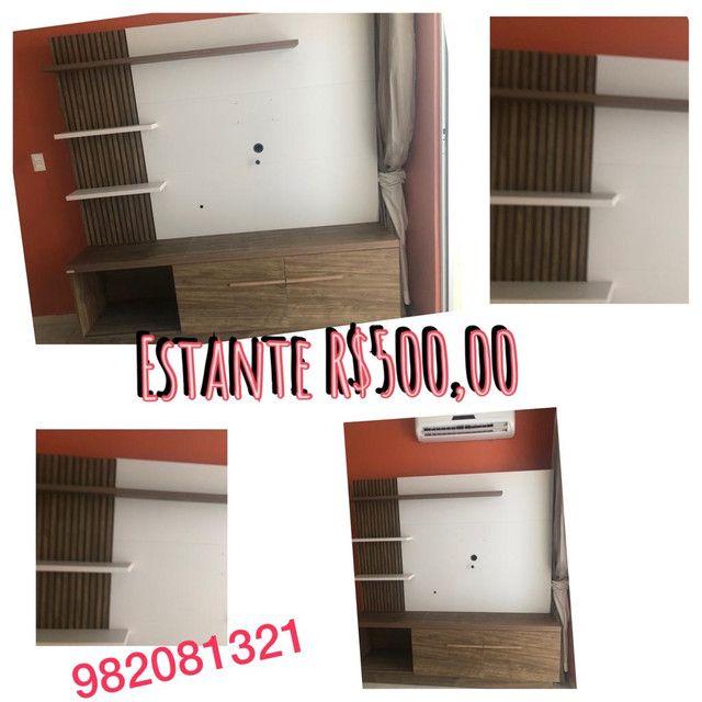 Guarda roupa três portas , estante , colchão beliche armário de cozinha  - Foto 4