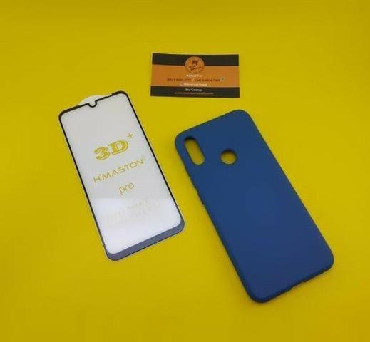 Kit Capa Veludo + Pelicula 3D ( Xiaomi Note 7 )