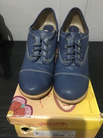 Sapato Djean Azul (38) - Foto 2