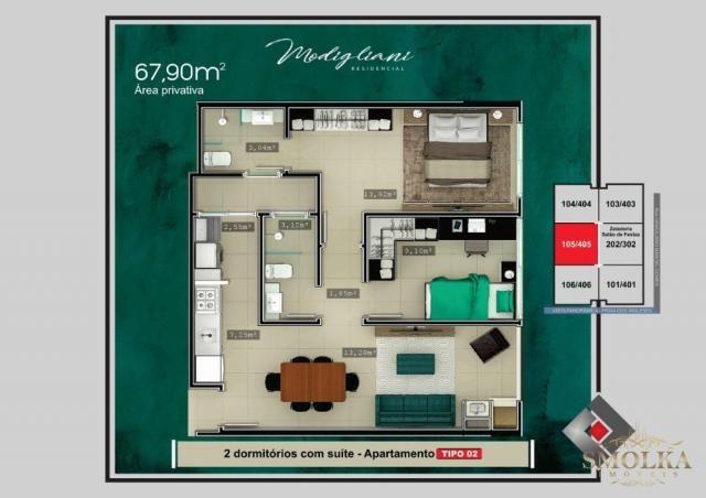 Apartamento à venda com 2 dormitórios em Ingleses do rio vermelho, Florianópolis cod:9564 - Foto 3