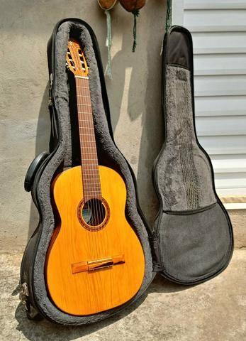 Aceito trocas por instrumentos musicais. Violão Antigo Di giogio mod 28 Classico de 1982 - Foto 5