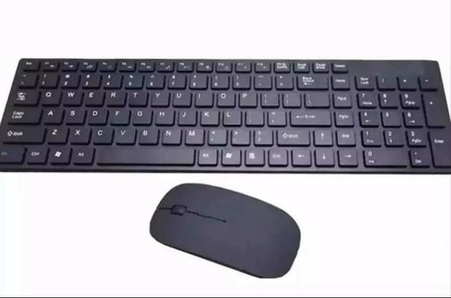 Kit teclado e mouse sem fio Wireless - Foto 4