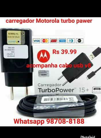 Carregador Motorola turbo Power
