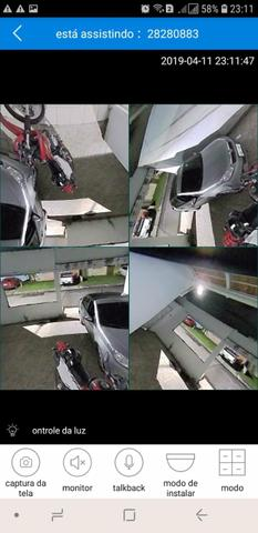 Lâmpada câmera espiã 360° monitore tudo pelo seu celular em tempo real - Foto 3