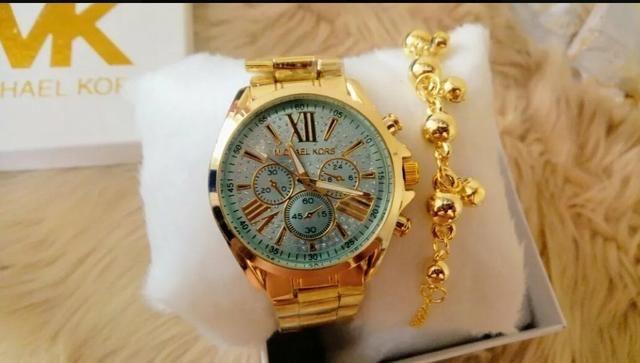 Kit Relógio Michael Kors + Pulseira - Bijouterias, relógios e ... 16739090ca