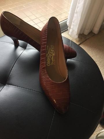 Sapato Scarpin Croco da Marca Italiana Salvatore Ferragamo! - Roupas ... 0d268da050