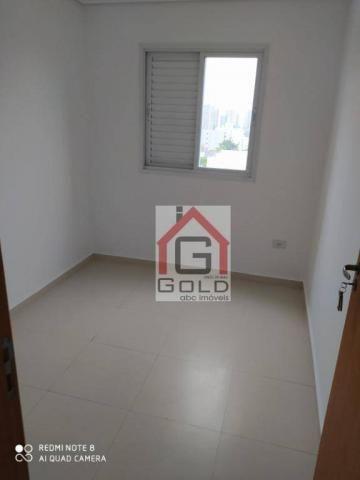 Apartamento com 3 dormitórios para alugar, 88 m² por R$ 2.000,00/mês - Campestre - Santo A - Foto 12