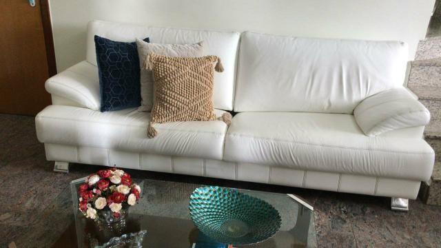 Sofá de couro legitimo branco - Líder Interiores - Foto 2