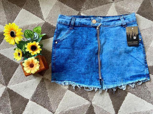 Linda saia jeans